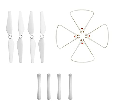 BTG Propeller Parts for Syma X8SC X8SW RC Quadcopter - Spare Parts: 4PCS Propellers; 4PCS Prop Protection frames; 4PCS Landing Skids - White Color