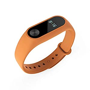 aaerp Mi Band 2 Handgelenkschlaufen, Ersatz-Silikon-Armband für Xiaomi 2 Smart-Armband