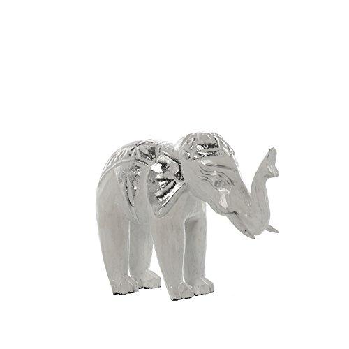 DonRegaloWeb - Figura de un elefante de madera en blanco decape y...