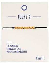 Mint Lucky 8 silk bracelet black