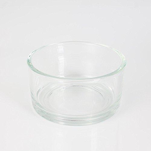INNA Glas - Mini coupe en verre / coupelle décorative VERA, transparent, 8 cm, Ø 15 cm - Coupelle apéritif / Vide poche