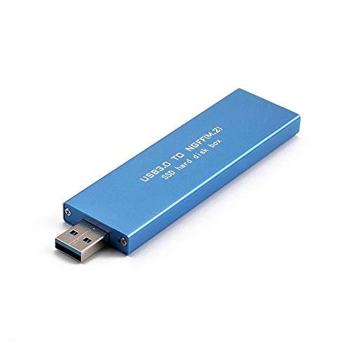 120gb Sata Mobile (Hillrong USB 3.0 auf M.2 Ngff SD High Speed Festplatte SD Mobile SATA Mobile blau blau 120GB)