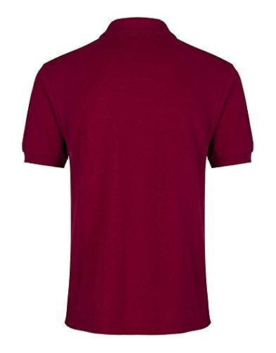 Lacoste Herren Polo-Classic Herren Premium Polo Shirt–Bordeaux Bordeaux