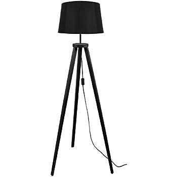 e27 40/W Nero legno Tosel 51164/Piantana 1/luce 40/x 155/cm