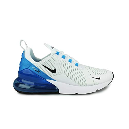 Nike Herren Air Max 270 Leichtathletikschuhe, Mehrfarbig (White/Black/Photo Blue/Pure Platinum 000), 41 EU -