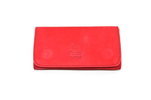 Interne Tasche Filter (Pure Leder Tabaksbeutel Halterlose bis 50 Gramm Tasche - Rot, Small)