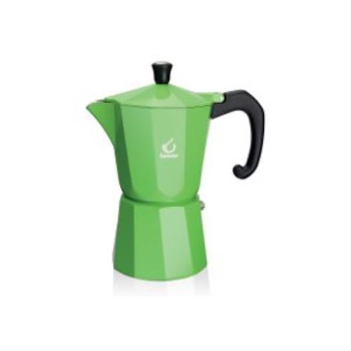 Forever KG120137 Caffettiera Miss Moka Super Colori, Verde 3tazze