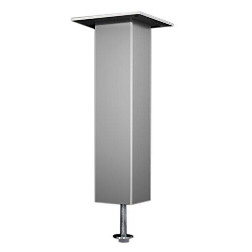 Bar-Konsole CAPRI gerade | 50x50 mm | Aluminium silber | Höhe: 230 mm | 1 Stück
