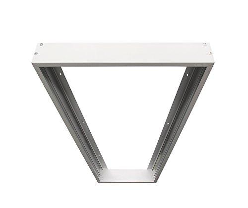 Bioledex Aufbaurahmen für LED Panels 1200x300mm (120x30cm) weiss, Wand & Deckenmontage (Wand 300 Mm)