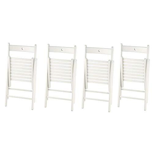 Ikea Terje Klappstühle in weiß; aus Massivholz; 4 Stück