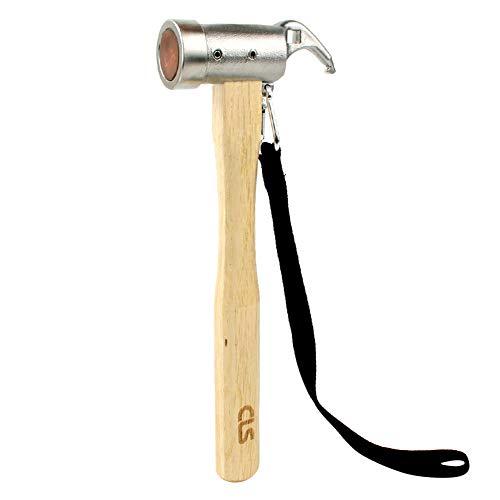 GUOCU Outdoor Edelstahl Kupfer Hammer Zelt Baldachin Nagel Hammer Puller Kupfer große Mehrzweck-Camping-Hacke