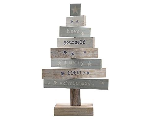 """Dekobaum """"Christmas"""" Holz mint weiß natur Weihnachtsdeko Weihnachtsbaum ausgefallen modern Weihnachten"""
