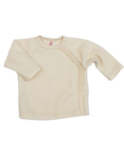 Engel Baby Wickelpulli,Größe 86/92, Farbe Natur aus 100% kbT Schurwolle - Engel Strickjacke