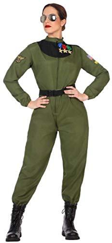 Fancy Me Damen Khaki Grün 80er Jahre 80er Jahre Pilot Flieger TV Buch Film Karneval Uniform Kostüm Outfit UK 8-18