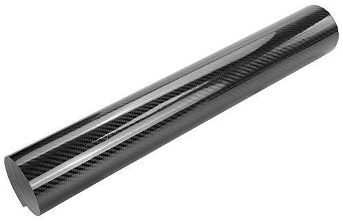 7€/m² Auto Folie - 5D Hochglanz Carbon Folie schwarz glanz - 100 x 150 cm selbstklebend BLASENFREI Car Wrapping Klebefolie