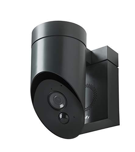 31IUqpmS1IL [Bon Plan Domotique] Somfy 2401563 - Outdoor Camera | Caméra de surveillance extérieure Wifi | 1080p Full HD | Sirène 110 dB | 3 branchements possibles