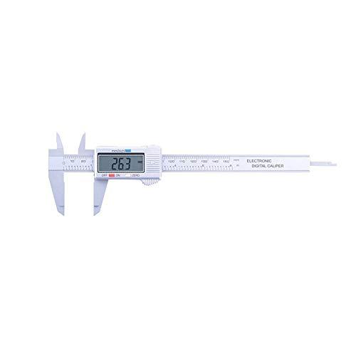 Ctlite calibro digitale, 150mm digital vernier caliper classico calibri digitali calibro a corsoio measuring tool inch/millimeter conversion ventesimale micrometro misurazione utensile (argento)