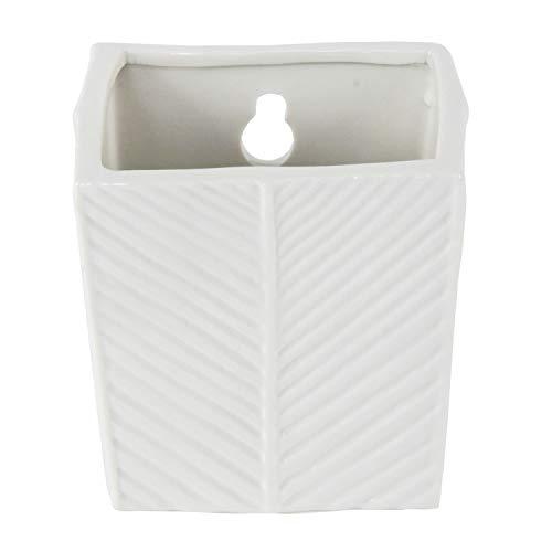 Roomando Luftbefeuchter Raumbefeuchter Square Pot aus Keramik zum Hängen mit Metallhaken in weiß
