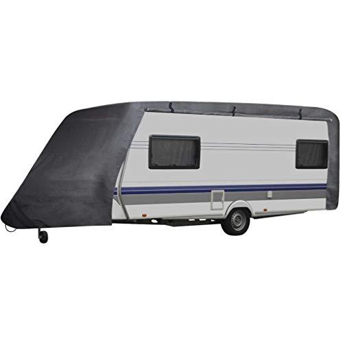 tidyard Wohnwagen-Abdeckung 610 x 230 x 220 cm Caravan Schutzdach Cover Schutzhülle