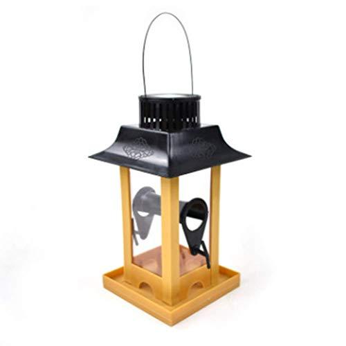 WYXHCJZ Vogelzubringer, Solar-Lichtvogel-Feeder, Fechter, Vogelfutterstation mit Solarlicht, Vogelzubringer & Planter. -