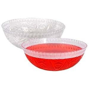 kunststoff rund kristall schneiden servieren f r salat punsch bowle oder leckerlis garten. Black Bedroom Furniture Sets. Home Design Ideas
