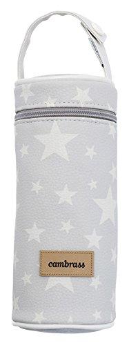 Cambrass Etoile - Porta biberón, 8.5 x 8.5 x 22 cm, color gris