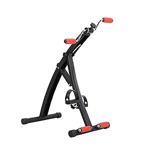 LIJJY Cyclette Pedaliera in Acciaio per Riabilitazione Gambe E Braccia Miniciclo con Impugnature Rotanti