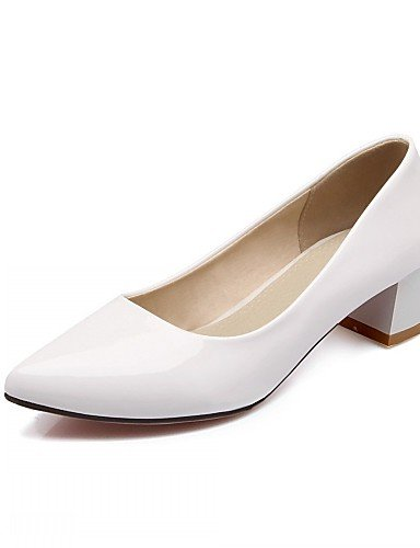 WSS 2016 Chaussures Femme-Bureau & Travail / Habillé / Décontracté-Noir / Rouge / Blanc-Talon Aiguille-Talons-Talons-Similicuir white-us9 / eu40 / uk7 / cn41