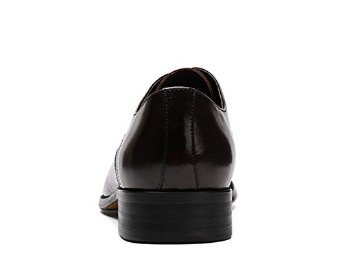 GLSHI Uomini Oxford Brogue Nuove scarpe a punta Scarpe da uomo in pelle da uomo Scarpe in cuoio genuino Red