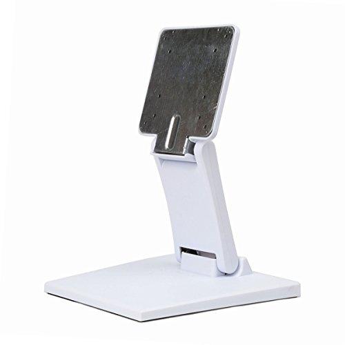 Verstellbare LCD-Monitor Ständer Halterung zusammenklappbar VESA Monitor Schreibtisch Ständer mit VESA Loch 75x 75mm 100x 100mm weiß (Schreibtisch-monitor-ständer)