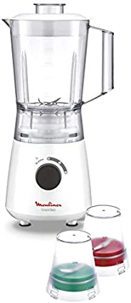Moulinex Blender with Grinder/Grater/Ice Crush Function 400 Watts, LM2A3127, White, 1 Year Manufacturer Warran