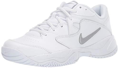 Nike Wmns Court Lite 2, Scarpe da Tennis Donna, Multicolore Metallic Silver/White 101, 36 EU