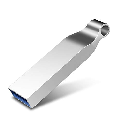 USB Stick,Kosiy Speicherstick 128GB Metall Memory Sticks USB-Flash-Laufwerk High Speed für PC/Laptop/Notebook (128GB, E-Silber-1) - Capless Usb-laufwerk