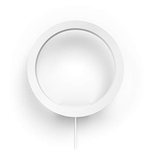 Philips Hue White and Color Ambiance LED Wandlleuchte Sana, dimmbar, steuerbar via App, kompatibel mit Amazon Alexa, weiß