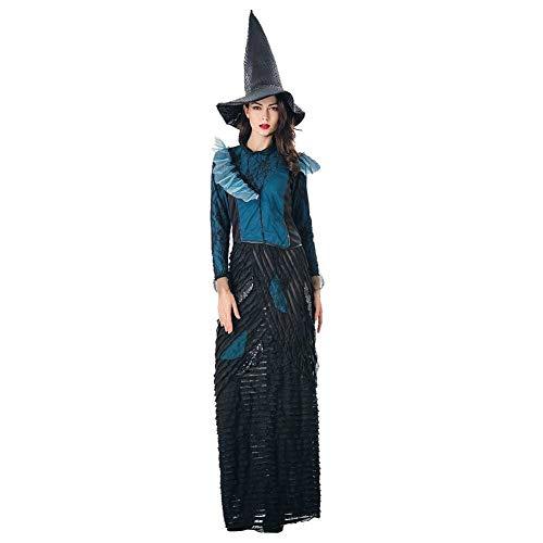 GLXQIJ Böse Deluxe Damen Hexe Halloween Kostüm Mit - Deluxe Böse Hexe Kostüm