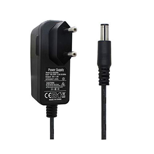 AC zu DC 5V 2A Netzteil Adapter, Stecker 5,5mm x 2,1mm für CCTV-Kamera DVR LED String Licht Cctv Dvr Kamera