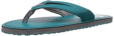 Nike Men's Chroma Thong 4 Radiant Emerald, Black and Cool Grey Rubber Flip-Flops and House Slippers - 8 UK/42 EU