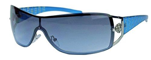 nenbrille im Designer Stil für Herren u. Damen KL39 (Blau) (80er Jahre Mens Style)
