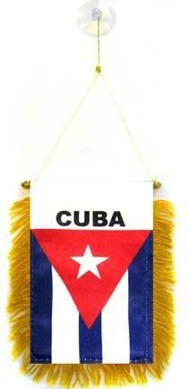 AZ FLAG Fanion Cuba 15x10cm - Mini Drapeau cubain 10 x 15 cm spécial Voiture - Bannière