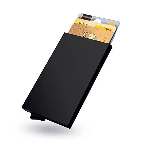 Kreditkartenetui | Slim Wallet | Kartenetui | RFID NFC Schutz | bis 6 Karten | Mini Geldbörse| portemonnaie herren | Geldbeutel | Geldboerse | portmonee herren