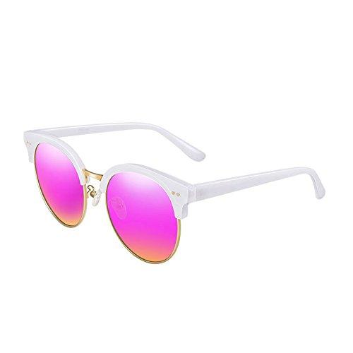 Sonnenbrille Silikon Nase Pads Pink und lila TAC Linsen Anti-UV polarisierte Sonnenbrille weiblich ( farbe : Pink and purple B ) -