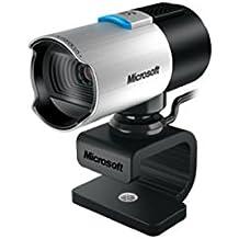 Microsoft LifeCam Studio - Webcam (Seguimiento de cara, Full HD, función de foto, micrófono incorporado, tipo de montaje: Clip/Stand, trípode montable), negro y plata