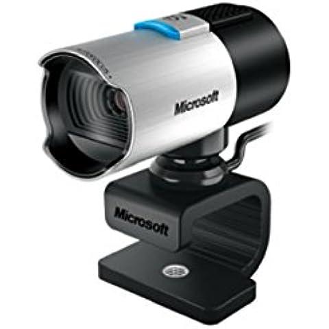 Microsoft LifeCam Studio - Webcam (Seguimiento de cara, Full HD, función de foto, micrófono incorporado, tipo de montaje: Clip/Stand, trípode montable), negro y