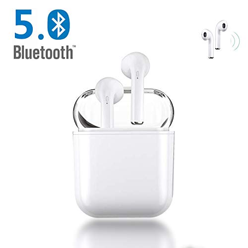Auriculares Bluetooth, Blancos Auriculares inalámbricos Auriculares Bluetooth 5.0