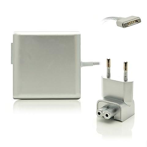 iProtect Nylon Ladegerät 85W für Apple MacBook mit MagSafe 2 Netzanschluss in Silber - Limited Edition