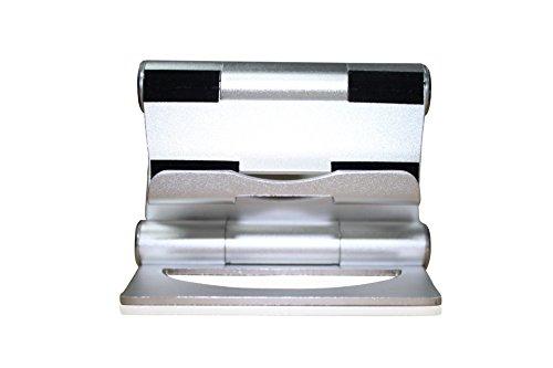 inShang Supporto Universale Stand da Tavolo Holder, Pieghevole, Multi-angolazione regolabile, per iPhone, iPad 2 3 4 ipad mini air Pro, Smartphone, all Tablet Samsung Galaxy Tab E reader, etc silver