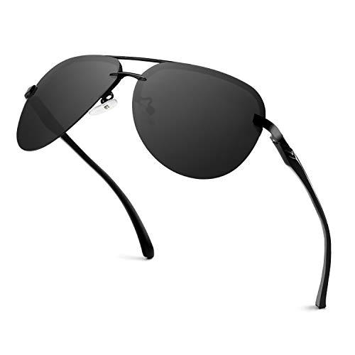 GQUEEN Pilotenbrille Damen Polarisiert Fliegerbrille Sonnenbrille Verspiegelt MOF3