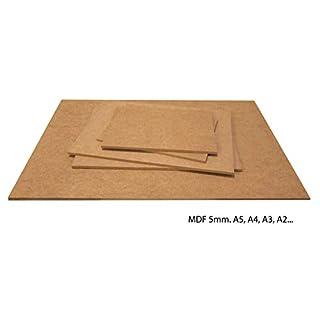 Carpintería Barús. MDF Platten. Größe, Dicke und Menge zur Auswahl. Holzfaserplatten Hergestellt und geschnitten in Galizien (Spanien). Zimmereiqualität. (MDF 5mm, 5xA3Plus)