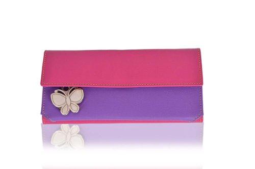 butterflies women's wallet (pink / purple) (bns 2034) Butterflies Women's Wallet (Pink / Purple) (BNS 2034) 31IVcKNlDlL