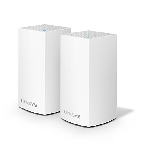 Linksys WHW0102-UK Velop Intelligent Whole Home Wi-Fi Mesh System, 2-Pack, AC2600, Compatible with Alexa, Ideal for Small to Medium Homes, 2 Years Warranty